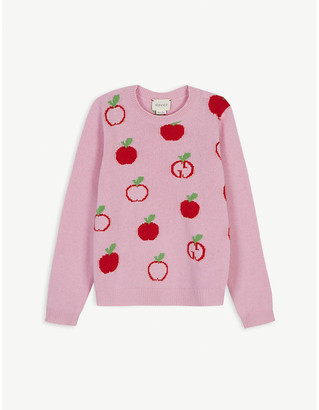Gucci GG apple-intarsia wool jumper 6-12 years