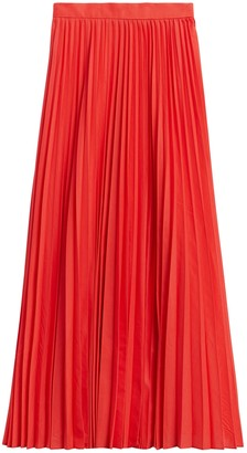 Banana Republic Petite Pleated Poplin Maxi Skirt