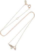 Adina 14-karat gold sapphire necklace
