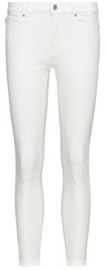 HUGO BOSS Charlie Super Skinny Fit Cropped Jeans With Zipped Hems - White