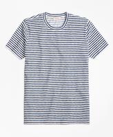 Brooks Brothers Heathered Micro Stripe Tee Shirt