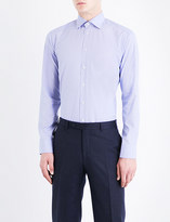 Eton Micro geometric-patterned slim-fit cotton-poplin shirt