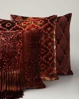Horchow Kevin O'Brien Studio Orange Velvet Throw & Pillows
