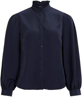 Vila Long-Sleeved Blouse with High-Neck