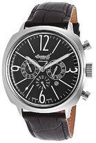 Ingersoll 2818BK Men's Ltd Ed Cooper Auto Black Leather Black Dial