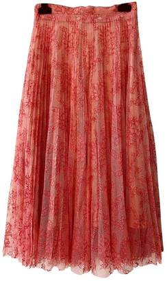 Burberry Pink Lace Skirt for Women