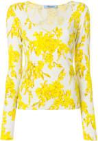 Blumarine printed V-neck jumper