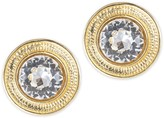 The Well Appointed House Round Crystal Clip Earrings
