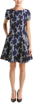 Donna Ricco Women's Short Sleeve Novelty Print Fit and Flare Dress
