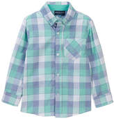Andy & Evan Mint-Blue Check Shirt (Toddler & Little Boys)