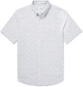 Club Monaco Button-Down Collar Floral-Print Cotton Oxford Shirt