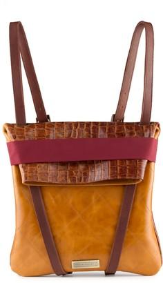 Maria Maleta Classic Brown Leather Backpack