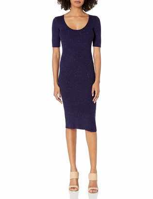 Cupcakes And Cashmere Women's Corazon Speckle Rib Knit Sweater Dress