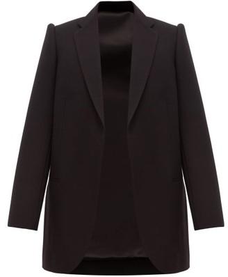 Balenciaga Single Breasted Wool Twill Blazer - Womens - Black