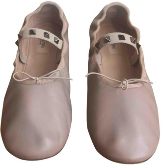 Valentino Rockstud Pink Leather Ballet flats