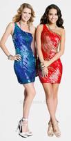Scala One Shoulder Sequin Party Dresses