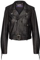 Ralph Lauren Cayden Lambskin Moto Jacket