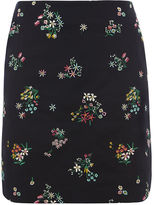 Oasis Floral Embroidered Mini Skirt