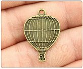 Nobrand No brand 6pcs 24*16mm antique bronze color Hot Air Balloon charms