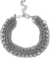 Kenneth Jay Lane Silver-Tone Beaded Bracelet