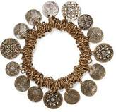 Kenneth Jay Lane Crystal-Embellished Burnished Gold-Tone Charm Bracelet