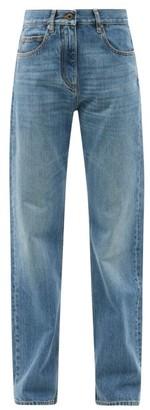 Valentino V-logo High-rise Straight-leg Jeans - Blue
