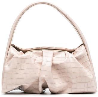 Themoire Hera crocodile-effect shoulder bag