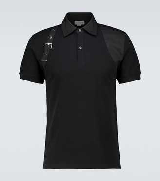 Alexander McQueen Harness short-sleeved polo shirt