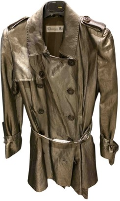 Christian Dior Gold Silk Trench coats