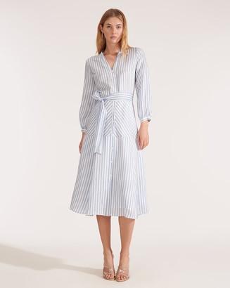Veronica Beard Jenna Tie-Waist Dress