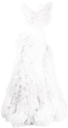 Loulou Ruffled-Tulle Layered Gown