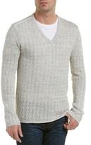 Star Usa John Varvatos John Varvatos Star U.s.a. V-neck Linen Sweater.