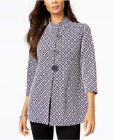 JM Collection Petite Printed Jacket, Created for Macy's