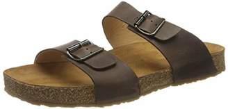 Haflinger Unisex Adults' Bio Andrea T-Bar Sandals, Brown (Brown 730)