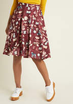 A-Line Circle Skirt with Pockets in Mystery Assistants in 2X - Mid by ModCloth