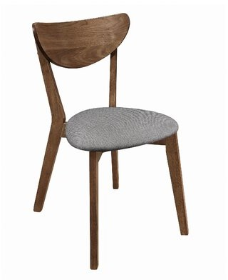 George Oliver Zora Solid Wood Curved Back Side Chair in Brown/Gray