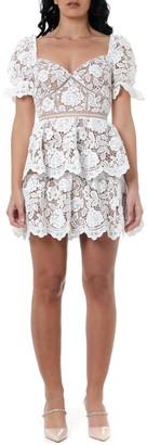Self-Portrait White Lace Dress