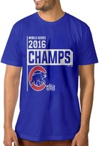 KcoIESisM Chicago Cubs 2016 World Series Champions Men's T-shirt RoyalBlue
