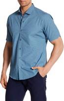 Zachary Prell Truesdell Print Short Sleeve Trim Fit Shirt