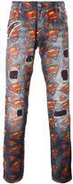 Philipp Plein Superman print jeans
