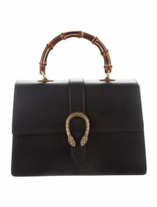 Gucci Large Dionysus Bamboo Top Handle Bag Black