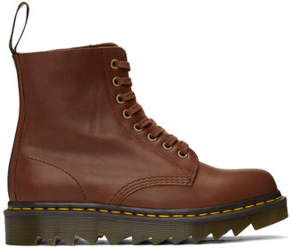 Dr. Martens Tan 1460 Ziggy Pascal Lace-Up Boots