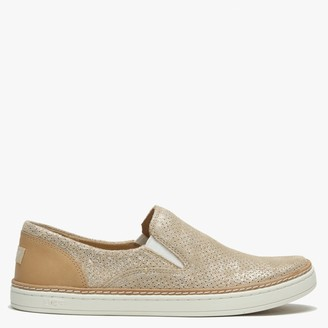 UGG Adley Stardust Gold Suede Perforated Pumps