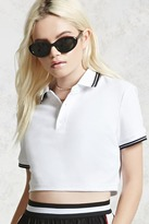 Forever 21 FOREVER 21+ Cropped Polo Shirt