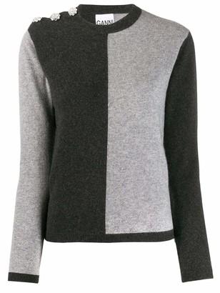 Ganni Two Tone Cashmere Sweater