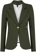 Smythe Duchess army green wool blazer