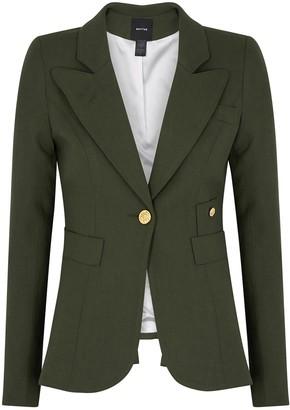 Smythe Duchess army green wool blazer