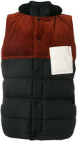 Marni padded patch gilet - men - Cotton/Feather Down/Leather/Virgin Wool - 48