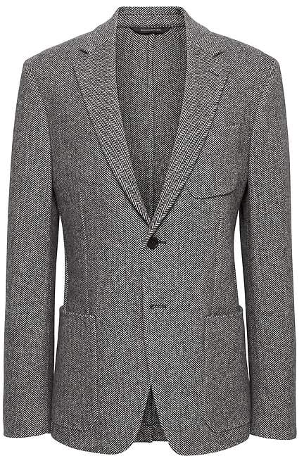 Banana Republic Slim Herringbone Italian Wool-Blend Blazer