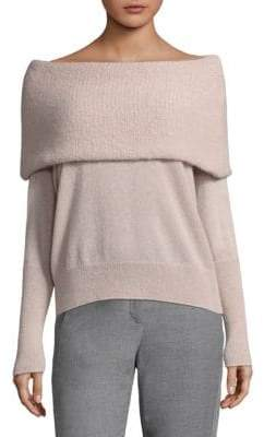 Peserico Fold-Over Off-The-Shoulder Sweater